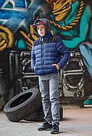 Куртка  зимняя синего цвета 140-164