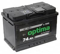 Аккумулятор SADA Optima 6CT-74Аз (Правый +)
