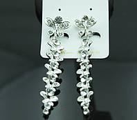 Кристальные длинные серёжки. Вечерние украшения от Бижутерии оптом RRR. 73