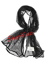 Шарф маскировочный черный сетка Max Fuchs 190x90см Black 16303A