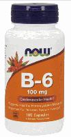 Vitamin В6, Now Foods, Vitamin B-6, 100mg, 100caps