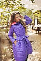 Женское пальто из плащевки на синтепоне