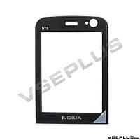 Стекло Nokia N78, черный