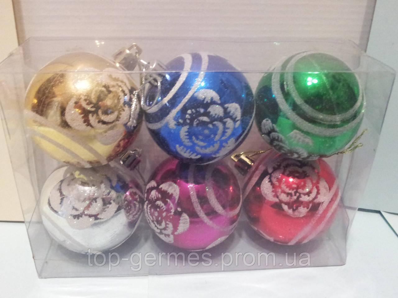 Новогодние шары на елку в ассортименте