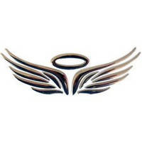 Крылья и нимб - универсальная 3D-наклейка на автомобиль, мотоцикл, скутер!