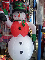 Новогодние надувные украшения для офисов,баров,ресторанов и т.д 180см-снеговик