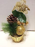 Новогодние  елочки с декором