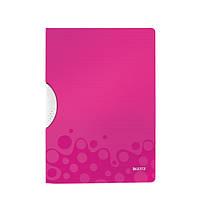 Папка с клипом Leitz WOW, А4 розовый металлик (41850023)