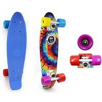 Скейтборд Penny Board TIE DYE FISH SK-4442