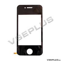 Тачскрин (сенсор) под китайский телефон Apple iPhone 4, YL1233, 49 х 66 мм., 56 х 110 мм., 4 пин