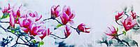 """Набор  для   вышивания  бисером/крестом  """"Магнолии"""" (триптих)  39,5*117см"""