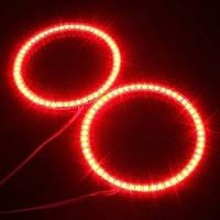 Ангельские Глазки LED 100мм, красные  (на ВАЗ, BMW, VW, KIA, DRL, ДХО)