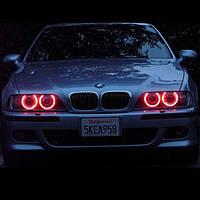 Ангельские Глазки CCFL 90мм, красные на Lanos, Opel, ВАЗ, BMW