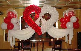 Серця з кульок