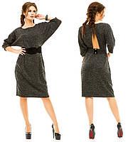 Платье из тонкой ангоры в трёх цветах с красивым поясом