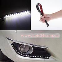 Гибкие дневные ходовые огни 8 LED линз (ДХО, DRL, светодиодная лента)