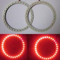 Ангельские глазки LED 80мм, красные, универсальные (ВАЗ, Audi, BMW, KIA, DRL, ДХО)
