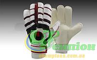 Перчатки вратарские с защитными вставками на пальцы FB-842-2 UHLSPORT (PVC, р-р 8-10, черный-красный-белый)