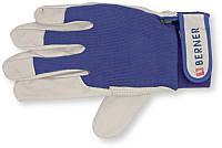 Монтажные перчатки, дубленая кожа, хлопок