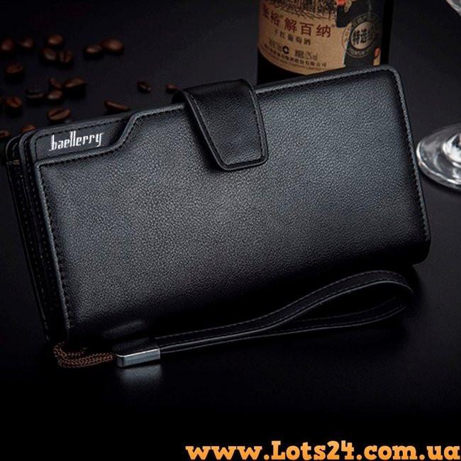 c605f7c180ab Baellerry - кожаный мужской клатч (портмоне, кошелек черный) -  Интернет-магазин Lots24