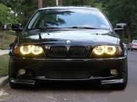 Ангельские Глазки CCFL 80мм желтые (ВАЗ, BMW, Mazda, Ява, KIA, VW, DRL, ДХО)
