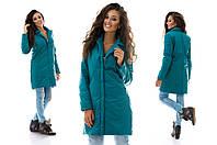 Женское пальто из плащевки на синтепоне плотностью 100