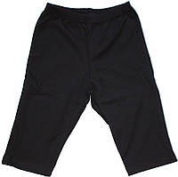 Шорты длинные детские спортивные, черные, рост 140 см, ТМ Фламинго