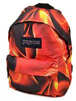 Необычный городской рюкзак 28 л. Jansport 3334-024-5 3d красный/черный