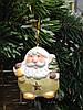 Керамическая фигурка, подвеска, 6,5х5,5 см, Дед мороз, Сувениры, Днепр