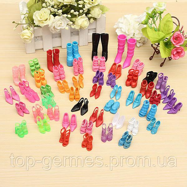 10 пар красочной обуви для кукол