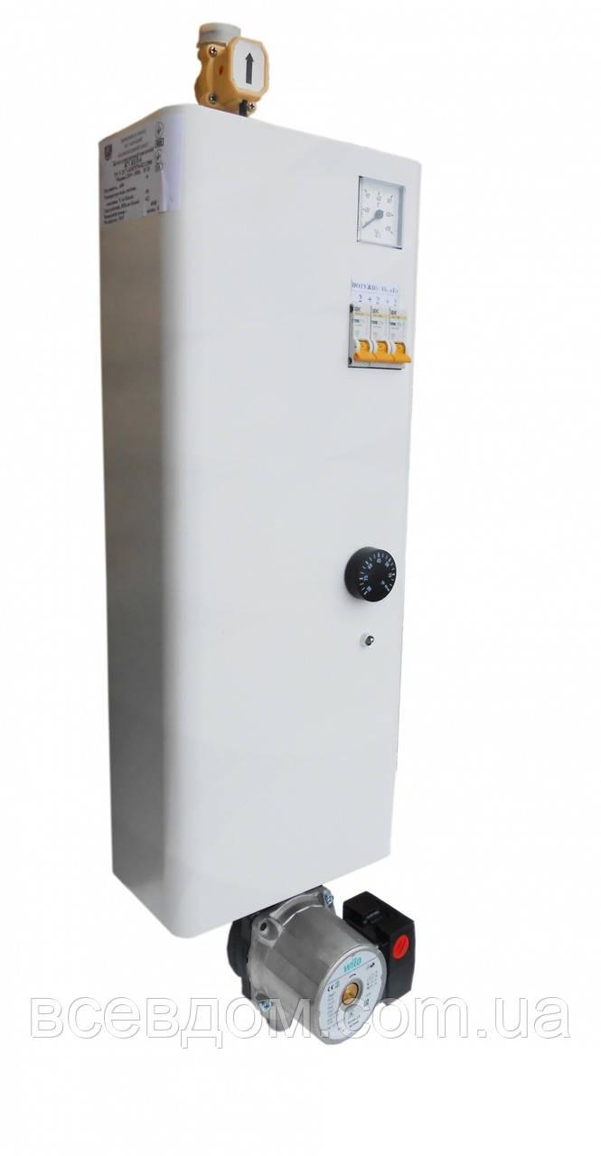 Настенный электрический котел КЕП Бар 4'5/220 c насосом