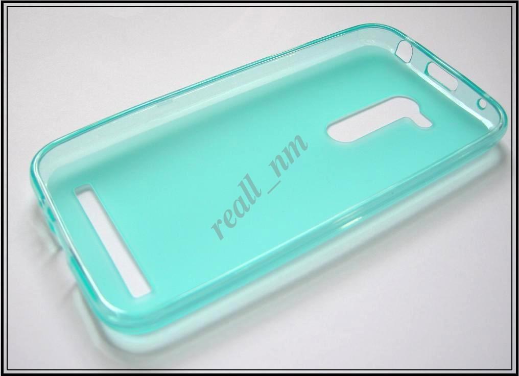Бирюзовый силиконовый чехол накладка-бампер для Asus Zenfone Go ZB452KG