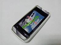 Чехол бампер Nokia Asha 305 белый