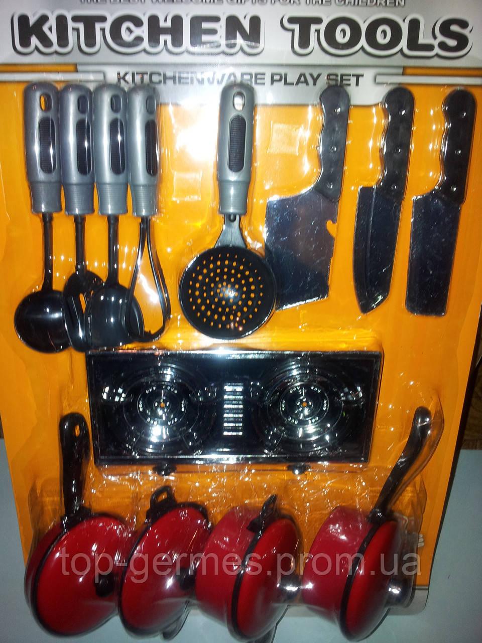 Набор детской посудки 12 предметов+газовая плита - Top-Germes в Одессе