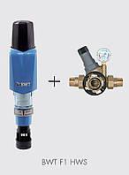 """BWT F1 HWS 1""""- фильтр с ручной промывкой (90 мкм) + редуктор давления; производительность 3,5м3/ч"""