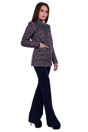 Женское черное осеннее короткое пальто арт. Мелини букле лайт 6934, фото 2