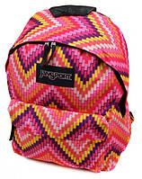 Превосходный рюкзак для девушек 28 л. Jansport 3334-9059-1 3d розовый/орнамент