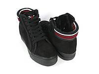 Стильные ботинки женские с мехом , фото 1