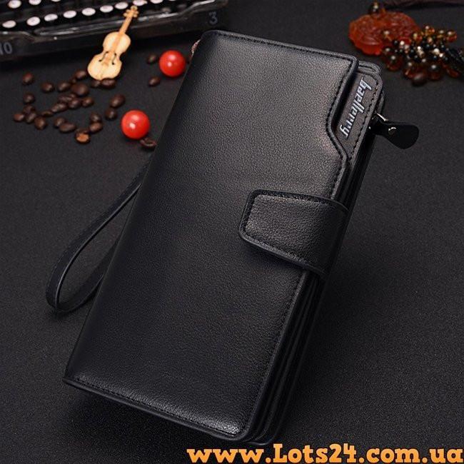 7e5ed4625d23 Baellerry - кожаное мужское портмоне (клатч, кошелек черный): купить ...