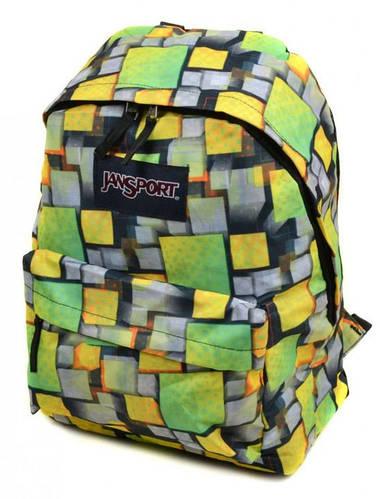 Городской интересный рюкзак 28 л. Jansport 3334-016-3 3d салатовый/желтый