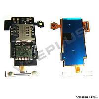 Шлейф LG P700 Optimus L7 / P705 Optimus L7, с разъемом на карту памяти, с разъемом на sim карту