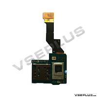 Шлейф Sony LT26i Xperia S, с разъемом на sim карту