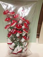 Декоративные грибы для декора 50шт
