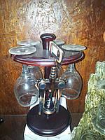 Мини бар стойка 4 бокала+штопор