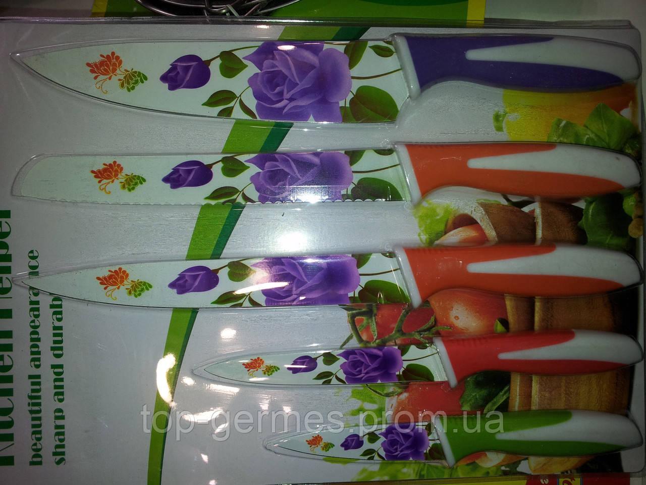 Ножи с керамическим покрытием 5шт