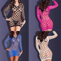 Сексуальное сетка мини-платье