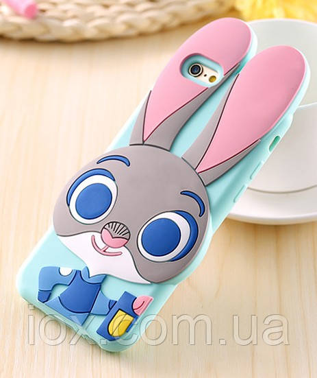 Силиконовый чехол Кролик Джудди для Iphone 6/6s, фото 1