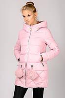 Женская зимняя короткая стеганная  куртка молодежная  Zilanliya