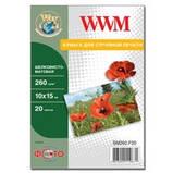 Фотобумага WWM шелковисто - матовая 260г/м кв , 10см x 15см , 20л (SM260.F20), фото 2
