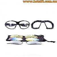 Daisy C4 - солнцезащитные очки со сменными линзами для спорта, охоты, рыбалки и активного отдыха (вело-очки)